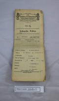 EMB13: Infantile Policy for the owner's father, dated 1938
