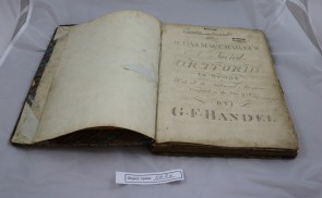 EMB6: Score of Handel-Judas Macchabaeus from 1816 (composed in 1716), publisher unknown