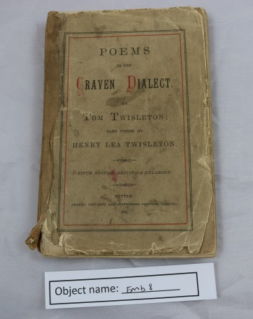 EMB8: book of poems in Craven dialect