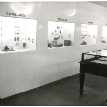 16th August 1960: the Geology Room. This photo shows the new Geology room that opened as part of Craven Museum in 1960. It shows exhibits from the Stone Age, Bronze Age, Iron Age and Roman Period.