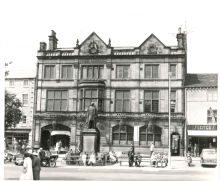 1960s: Craven Museum in Skipton Library. This photo, taken in the 1960s, shows Skipton Library when the Craven Museum was still housed there. The statue outside is of Sir Mathew Wilson, MP for Skipton (it was moved there in 1922 after its original spot at the top of the High Street was replaced with the War Memorial).