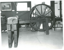Post-1973: upstairs at the Town Hall (2/2) The Lathe pictured in this image has also featured in modern industrial displays at the Craven Museum. Spot the Craven Heifer in the background! Photograph by David Hyde