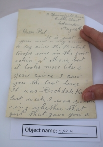 ING4: This is the front page of the letter contained in the envelope (see previous image).