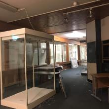 December 2018: an empty Museum. By December 2018, the Museum was all packed up, with the objects put away in storage.