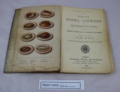 CRO2 (1): Cookery book published in 1869. Found by the owner 40 years ago in a mixed box of books she bought from a bookshop.