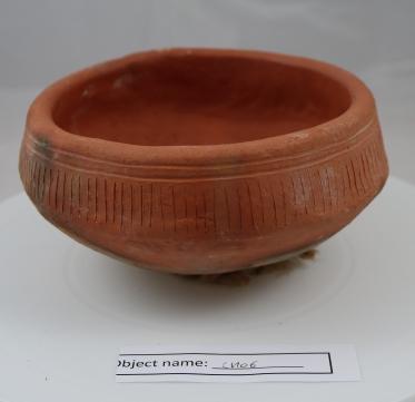CRO6 (2): Round based Neolithic pot replica.
