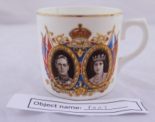 FAR3: King George and Queen Elizabeth coronation cup (May 1937), given to the owner's father at school.