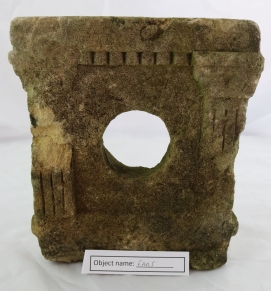 FAR5: Found in a garden by the owner in Kildwick. It's thought this could have been used for a drainage pipe in a building.