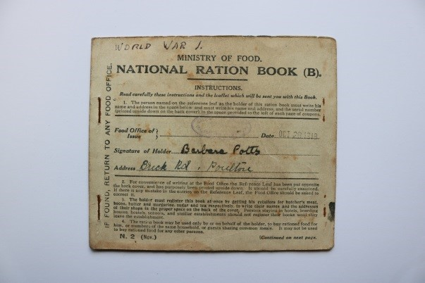 315c2 National Ration Book