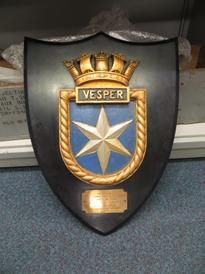 672/2016.33 HMS Vesper plaque